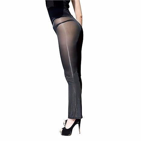 ZILucky Damen Transparente Leggings Pants Bell-Bottom Hosen Reizwäsche Dessous Erotik Unterwäsche Strumpfhose