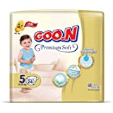 Goon Premium Soft Bebek Bezi, 5 Beden, Jumbo Paket, 24 Adet, Beyaz