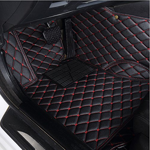 kaifeng Custom Fit All-Weather 3D Covered Car Carpet FloorLiner Floor Mats for Alfa Romeo Giulia 2017 (Black red, 2017)