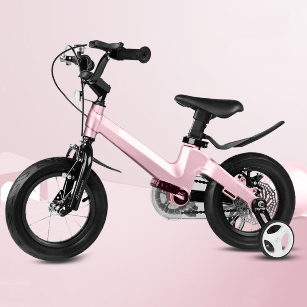 QXmEi子供の自転車マグネシウム合金フレーム自転車2 – 4-6 – 7-8 – 9-10 Years Old Boy and Girl 12 /14 /16 /18インチ自転車 18Inches ゴールド 02170 B07DN4LRGG 12Inches ピンク ピンク 12Inches