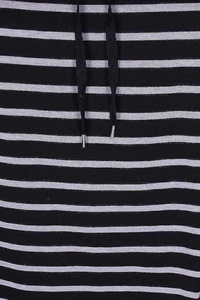 Karen Scott Womens Striped Funnel-Neck Sweatshirt Deep Black PLUS SIZE 3X $44.50