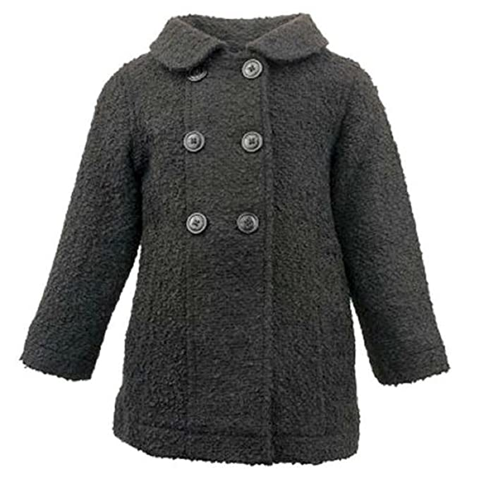 4403fdb0d Amazon.com  Madden Girl Toddler Girls Black Boucle  Double Breasted ...