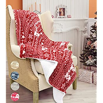 Amazon Catalonia Christmas Sherpa Throw BlanketSuper Soft Warm New Christmas Fleece Throws Blankets