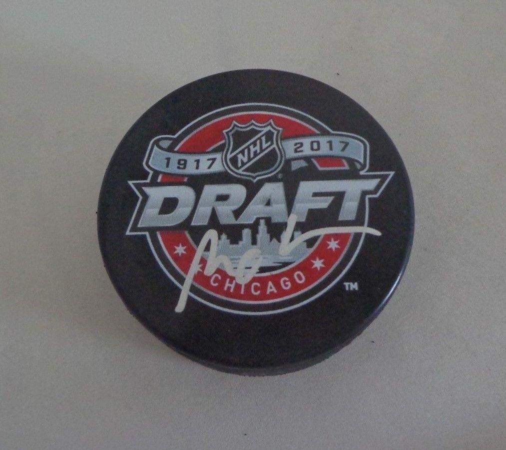 Miro Heiskanen Dallas Stars signed 2017 NHL Draft Puck autographed Autographed NHL Pucks