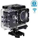 Eonfine 4K Sport Action Camera, 2 Inch LCD Screen 16 MP Full HD 1080P 60fps Wi-Fi Remote Control Waterproof Sports Camera with 170 Ultra Wide-Angle Lens, Including Full Accessories