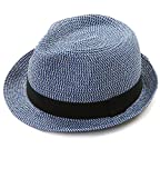 EUPHIE YING Women Men Panama Straw Summer Fedora Beach Sun Hats Short Brim