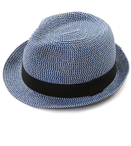 EUPHIE YING Women Men Panama Straw Summer Fedora Beach Sun Hats Short Brim by EUPHIE YING