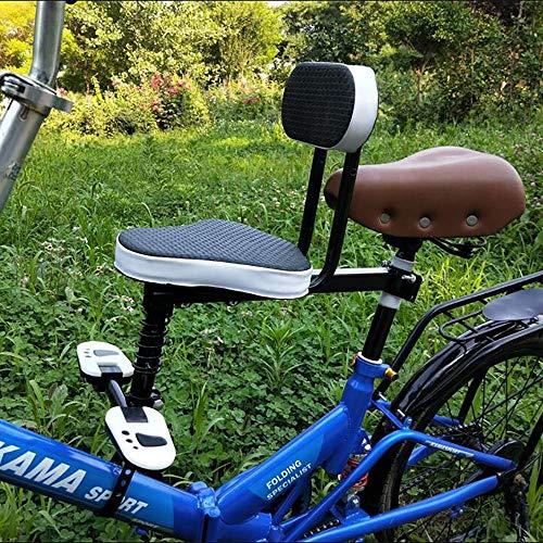 FHGH Silla Bicicleta NinO,Asientos para Bicicleta NinO Asiento Infantil Bicicleta Asiento Seguridad Delantero Bebe Coche EleCtrico Asiento Plegable Bicicleta con Circunferencia Completa