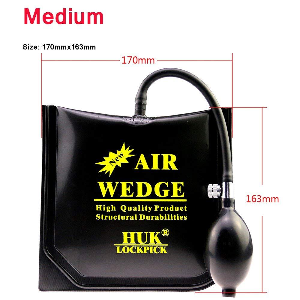Loboo Idea Pompa pneumatica con zeppa Pompa a pinza quadrata e rettangolare Pompa pneumatica Strumento di allineamento Strumento gonfiabile Spessore ammortizzato Potente Tre, HUK