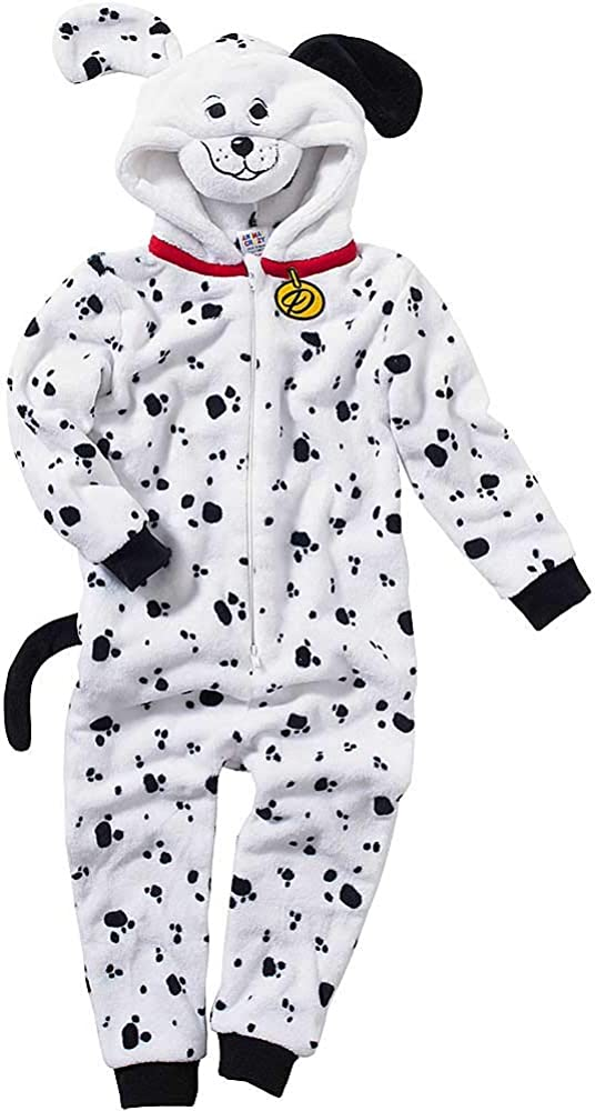 Onesies Animal Crazy Girls Dalmatian Dog Supersoft Fleece Jumpsuit Playsuit