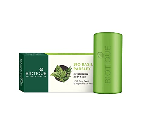 Bar Soaps pack Of 4 Health & Beauty Biotique Basil And Parsley Soap 75g