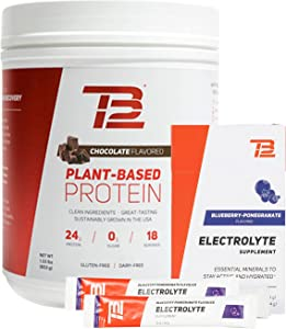 TB12 Recovery Set - Plant Based Protein Powder & Electrolyte Powder for Ultimate Recovery, Vegan, Gluten-Free, Dairy-Free, Non-GMO
