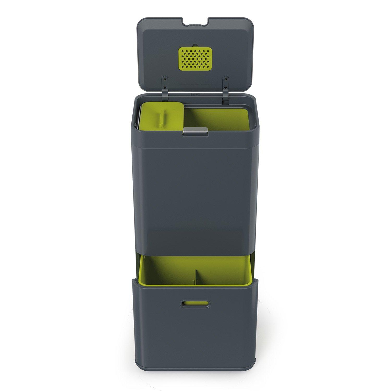 Amazon.com: Joseph Joseph 30002 Intelligent Waste Totem Kitchen Trash Can  And Recycle Bin Unit With Compost Bin, 16 Gallon / 60 Liter, Graphite:  Kitchen U0026 ...