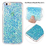 iPhone 6 Plus Soft Bling Case, iPhone 6S Plus Back Cover, Rosa Schleife Sparkle Luxury Bling Glitter Soft Acrylic Gel TPU Bumper Phone Case Protective Cases Covers for iPhone 6 Plus/6S Plus (5.5')