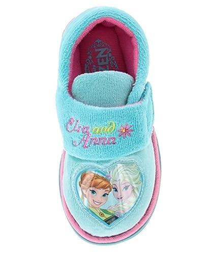 b4f1dc78a85 Disney Girls Frozen Elsa Anna Olof Slippers Shoes Pink Aqua Children s Size  UK ...