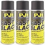 PJ1 16-SAT-3PK Satin Black Engine Spray Paint, 33 oz, 3 Pack