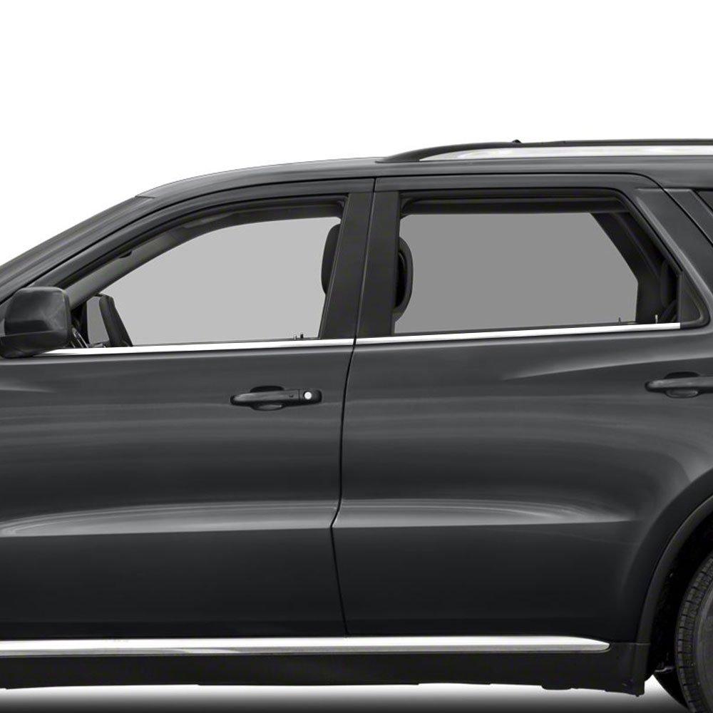 Upgrade Your Auto 4Pc Chrome Window Sill Trim Stainless Steel for 2011-2013 Dodge Durango Upgradeyourauto