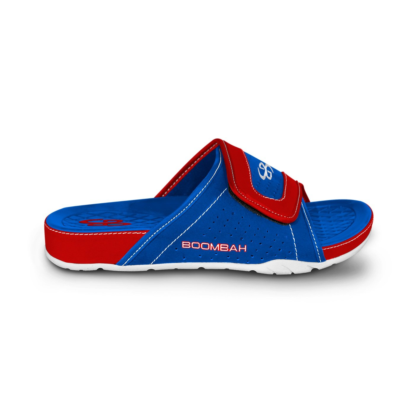 Boombah Men's Tyrant Slide Sandals - 32 Color Options - Multiple Sizes B077NKPMNK 13 Royal/Red