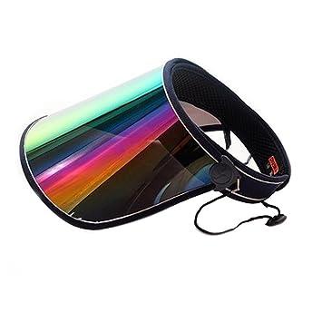 ViewHuge Sombrero de Sol vacío Top Mujer Verano Unisex Visera Lente Hoja  Amplia Brimmed Protección UV Ciclismo Capucha Playa Sombrero 27153f584c9