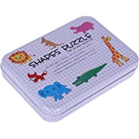 Fdit Rompecabezas de Madera Educativo Niños Juguetes de Aprendizaje Temprano Set Regalo con Caja de Almacenamiento