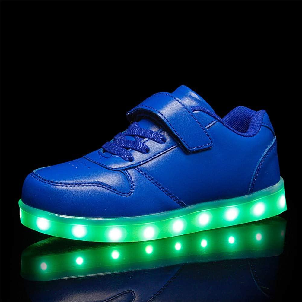 Lovelysi Unisex LED Scarpe Sneakers Lampeggiante USB Ricaricabile 7 Colori Regalo Natale Capodanno Compleanno Bambini Ragazzi Ragazze