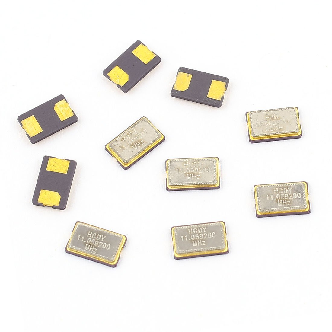 Aexit 10 Pcs Passive Components 11.0529MHz SMD Passive Crystal Oscillator 5mm Crystals x 3.2mm