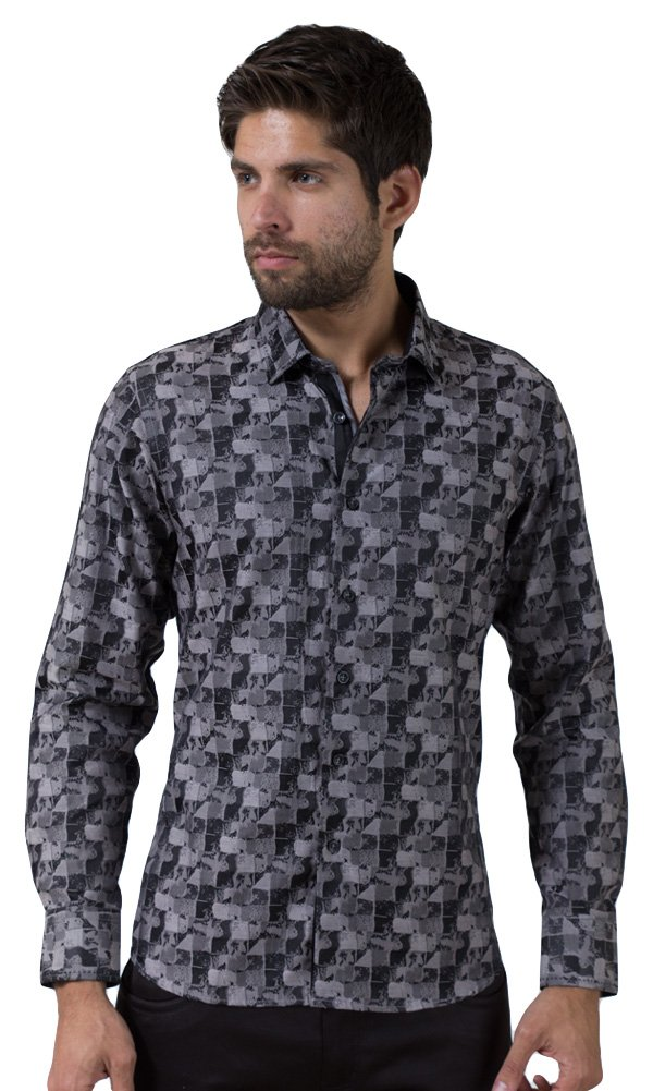 Barabas Men's ''Stained Glass'' Button Down Shirt Small by Barabas