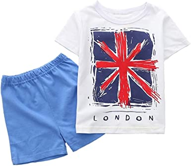 Kids Clothes Toddler Short Sets Cotton Outfits T-Shirt /& Shorts 1-5 Years
