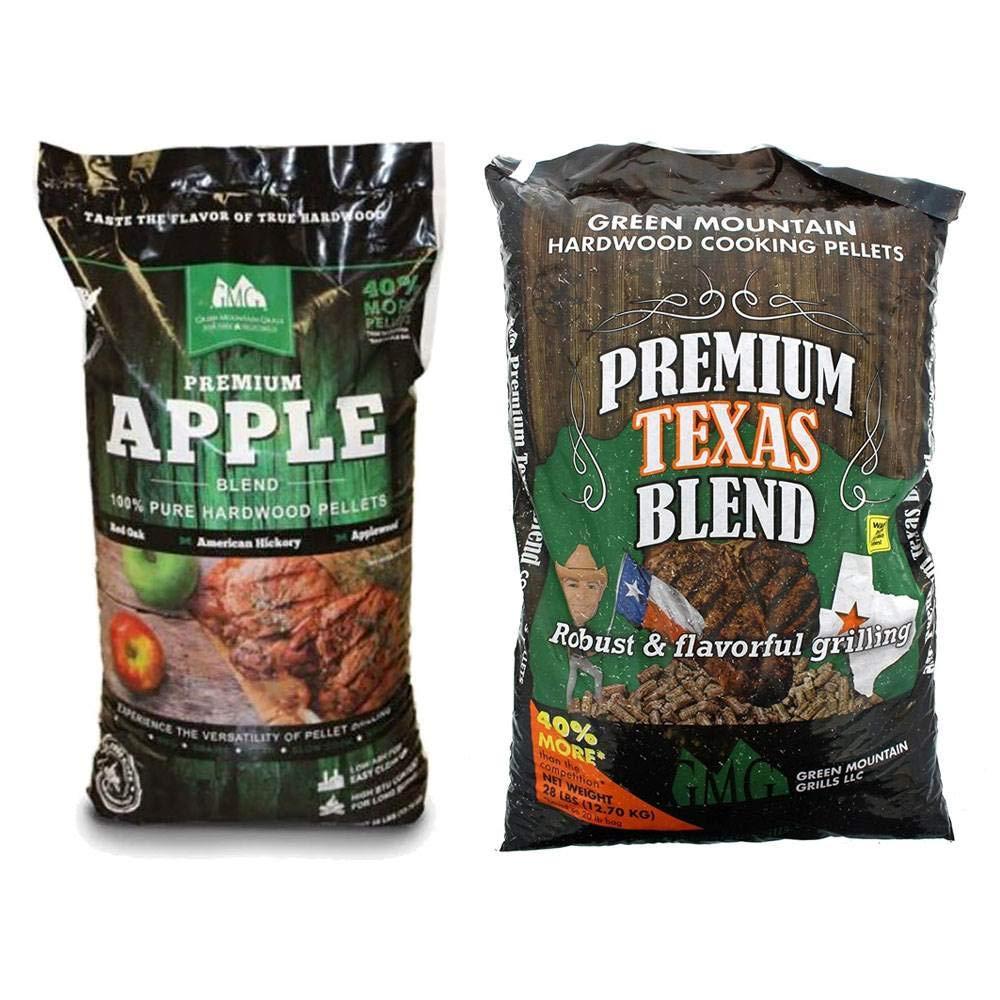Green Mountain Grills Apple Hardwood Grilling Cooking Pellets & Texas Pellets by Green Mountain Grills