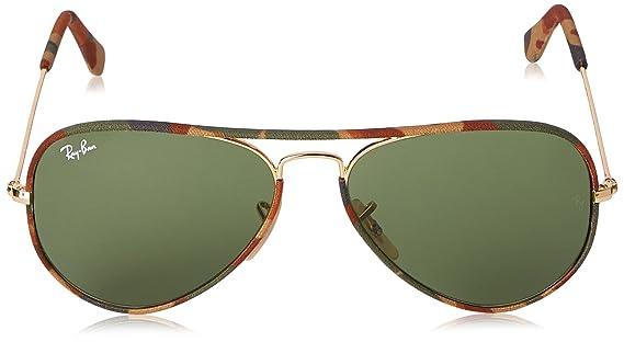 6a88432b17f Amazon.com  Ray-Ban RB3025JM Aviator Full Color Sunglasses Black Light  Green Mirror Silver 58mm  Clothing