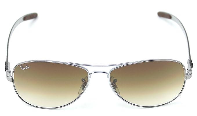 439b0058786 Ray-Ban RB8301 004 51 CARBON FIBRE Gunmetal Frame   Light Brown Gradient  Lens 56mm  Amazon.co.uk  Clothing