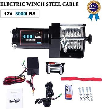 ATV//Utility Elect 2500 lb Winch w//Wireless Remote Control A Must For Off-Road