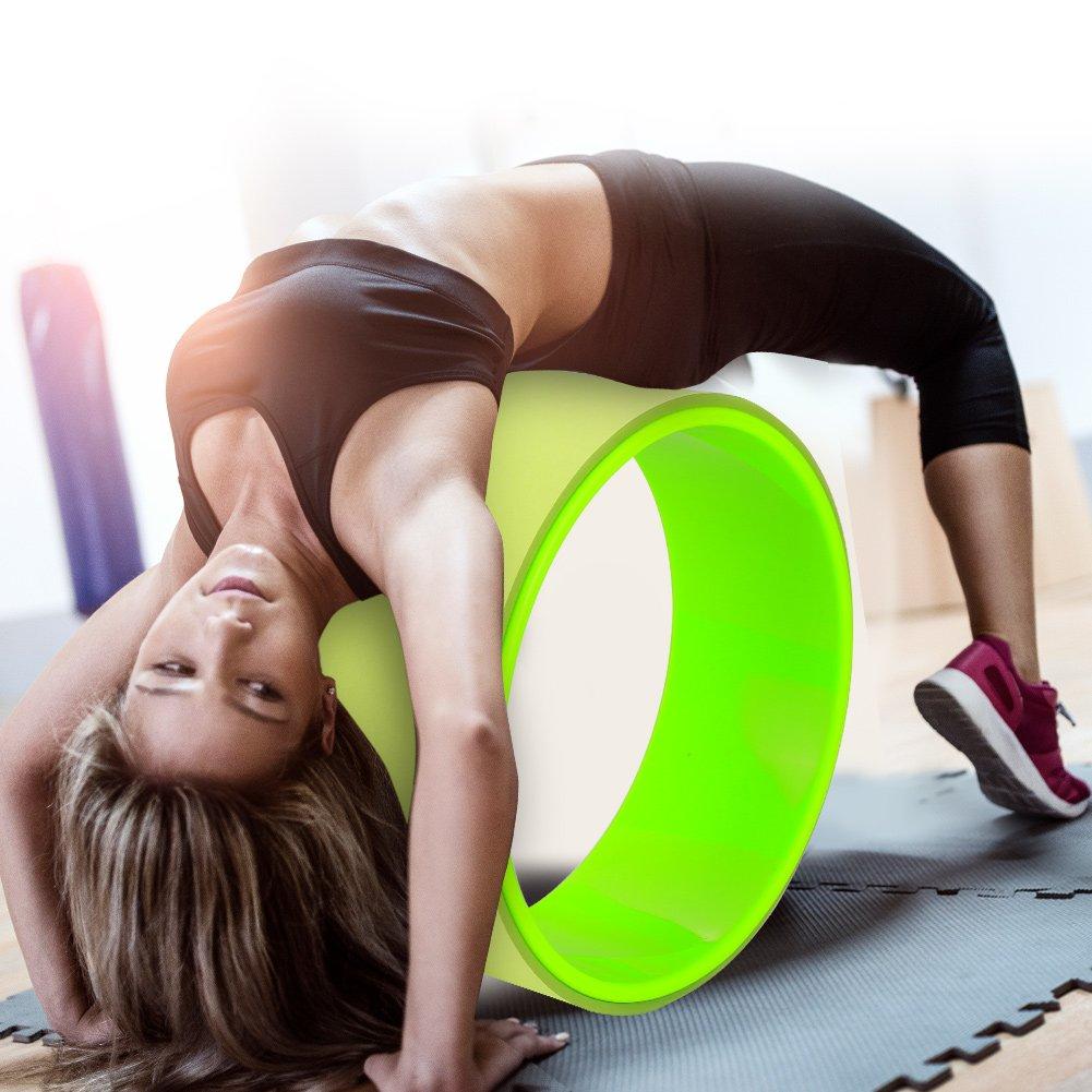 Amazon.com: Ruedas de Yoga, Yoga Prop bastidor rodillo rueda ...