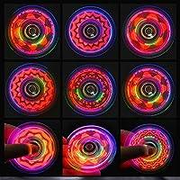 White Spinner Fidget Co. Light Up Spinning Toy For Kids /& Adults Premium Lighted LED Spinner Fidget