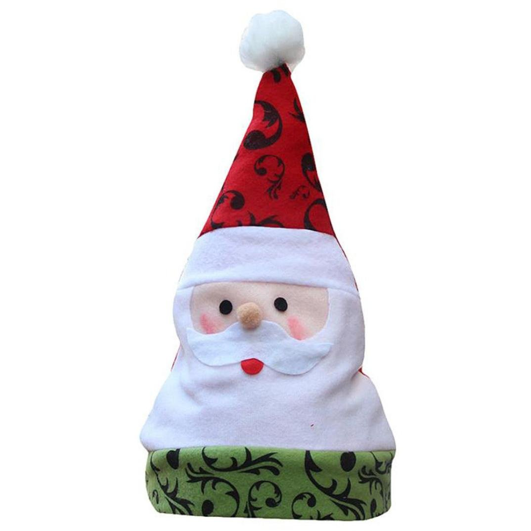 Covermason Popular Unisex Adult Xmas Red Cap Santa Novelty Hat for Christmas Party