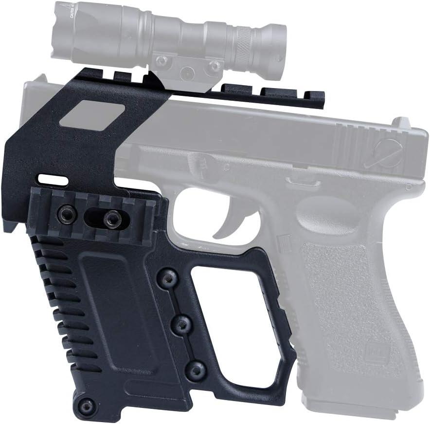 Huenco Tactical Glock Series Kit carabina a Pistola Guida Rapida per Il Caricamento della rotaia Dispositivo di Caricamento della Base per Glock G17 G18 G19