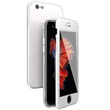 WindCase Funda iPhone 6, Funda iPhone 6s, 360 Grados Cuerpo Completo Protección + Cristal Templado, 2 en 1 Duro Lustroso PC Carcasa con Magnética para ...