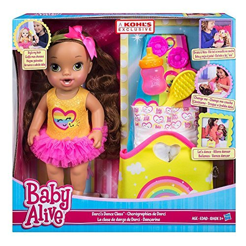 Baby Alive Darcis Dance Class Brown Hair Doll (Baby Alive Ballerina)