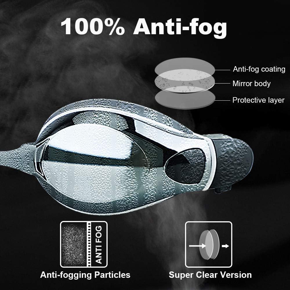 1,5 bis Keepmoving Anti-Fog-Beschichtung Sport Optische Schwimmbrillen Kurzsichtig mit Sehst/ärke 8,0 dpt UV-Schutz Damen Herren M/ädchen Junge Schwimmer