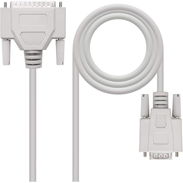 NANOCABLE 10.14.0802 - Cable Serie RS232 de comunicaciones Null ...