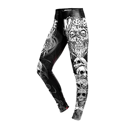 f24f4a62d0d26 Amazon.com: YKARITIANNA Ladies Digital Skull Printing Fitness Running High- Waist Tight Bottom Pants: Arts, Crafts & Sewing