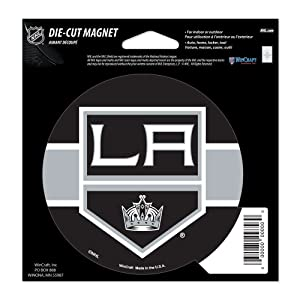 WinCraft Los Angeles Kings Official NHL 4.5 inch x 6 inch Car Magnet by 285324, Multi