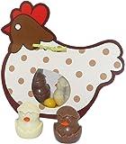 CHOCOLAT DE PAQUES - BOITE POULE CARTONNEE DE PAQUES CHOCOLAT DE PAQUES - CHOCOLAT DE PAQUES - GOURMANDISES DE PAQUES -