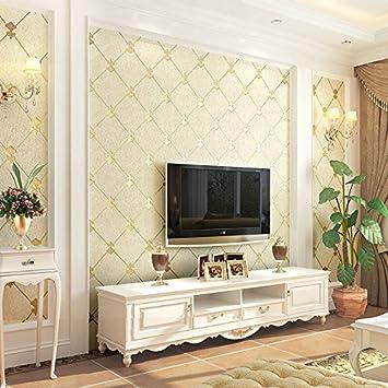 Lieblich Xzzj Tv Wand Papier Dick Hintergrund 3D Grün Schlafzimmer Wohnzimmer Mit  Einfachen Und Modernen Vlies