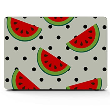 MacBook Pro 13 Cases Summer Sweet Cool Fruit Watermelon Plastic Hard Shell Compatible Mac Air 11 Pro 13 15 MacBook Pro A1989 Case Protection for MacBook 2016-2019 Version