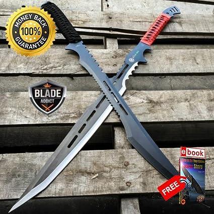Amazon.com: MOON 2 PC 27 Black Full Tang Tactical Combat ...