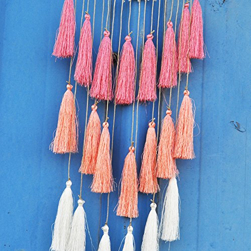 Tassel White Artilady Macrame Dream Catchers for Bedroom Tassel Wall Hanging Handmade Dreamcatchers Home Decor with Tassel Feather Ornament Craft Blessing Gift
