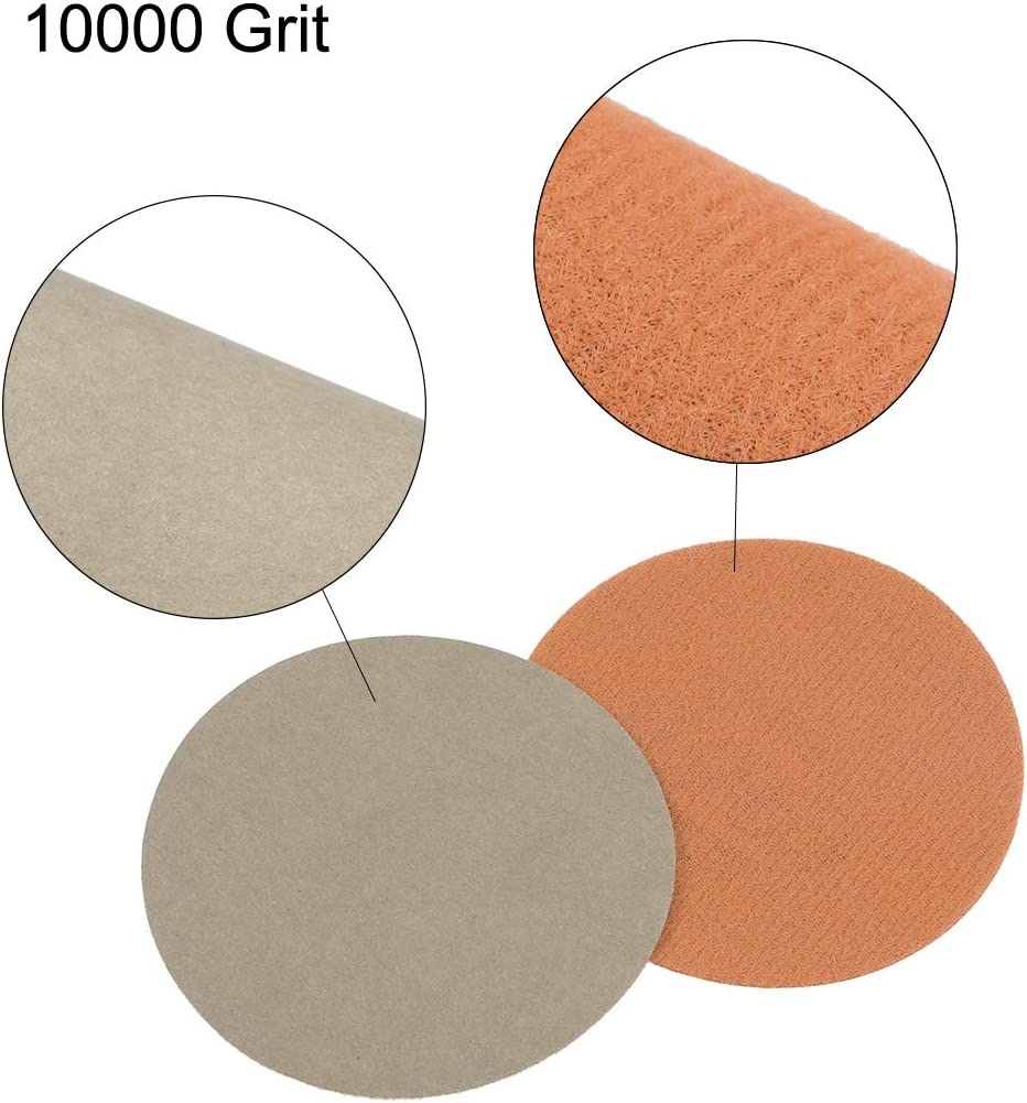 uxcell 3-inch Hook and Loop Sanding Disc Wet//Dry Silicon Carbide 10000 Grit 20 Pcs