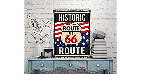 Cartel de metal Ruta 66, cartel, carteles personalizados, de ...
