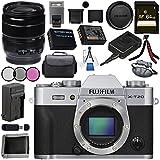 Fujifilm X-T20 Mirrorless Digital Camera (Silver) 16542359 XF 18-55mm f/2.8-4 R LM OIS Zoom Lens 16276479 Bundle